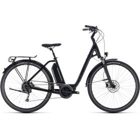 Cube Town Hybrid Sport 400 Elcykel Trekking Easy Entry svart